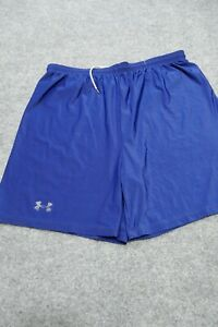 Under Armour Shorts Adult Large Blue Loose Gym Outdoor Casual Athletic Mens