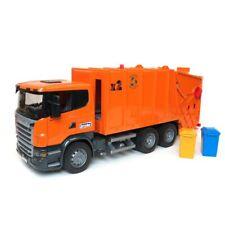 1/16 Bruder Scania R-Series Orange Garbage Truck 03560 Kids Toy Brand New