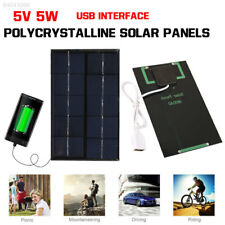 C646 5W 5V Camping Travel USB Solar Panel Portable Climbing Mobile Phone FFAE