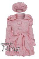 Girl Quality Coat / Rain Jacket / Baby Pink Coat Matching Hat 1 to 9yr