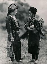 INDOCHINE c. 1935 - Femme Man et Femme Méo Tonkin - DIV 9464