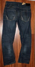 NWT MENS ALLSAINTS SPITALFIELDS TEXEL TWISTED VINTAGE INSPIRED JEANS SIZE 36X34