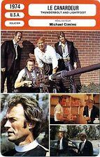 Fiche Cinéma. Movie Card. Le canardeur/Thunderbolt and lighfoot (USA) 1974