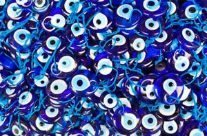 "Pack of 25 Turkish Blue Evil Eye, Glass, Amulet, Charm, Nazar Boncugu 4cm/1.54"""