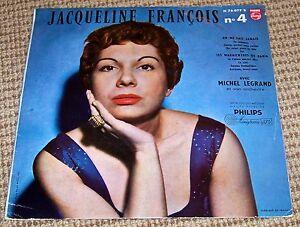 """Jacqueline François - No.4 RARE France Philips Minigroove 10"""" LP Michel Legrand"""