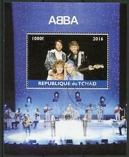 Chad 2016 CTO ABBA in Concert 1v M/S Pop Stars Music Celebrities Stamps