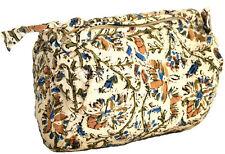 Handmade Cotton Kalamkari Block Print Shopping Work Tote Accessory Bag 8x6