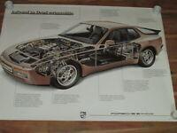 Porsche 944 Turbo Querschnitt   Plakat  1988 - Poster - 101 cm x 76 cm orginal
