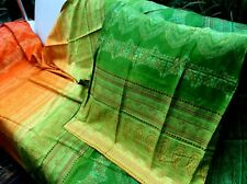 Bassetti Satin Bettgarnitur Brunelleschi grün orange 260x240cm 2 Kisssen40x80cm