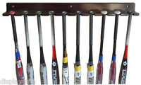 10-Bat Baseball Bat Display Rack Wall Hanger, Solid wood, B110-MAH