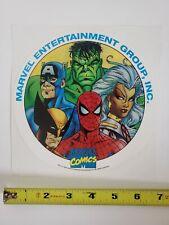 RARE 1992 MARVEL PROMO STICKER DECAL COMIC HULK WOLVERINE X-MEN STORM SPIDER-MAN