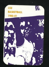 Louisiana State Tigers--1980-81 Basketball Pocket Schedule
