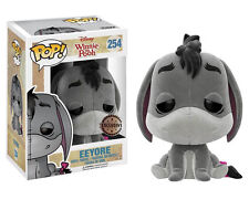 "DAMAGED BOX EXCLUSIVE WINNIE THE POOH FLOCKED EEYORE 3.75"" VINYL POP FIGURE"