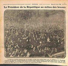 Président Poincaré Amiral Lacaze & André Malvy Poilus Armée Française WWI 1916