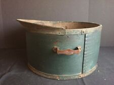 Antique Primitive Green Painted Bent Wooden Dry Measure Gage & Co. Henniker, NH