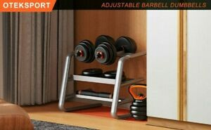 OTEKSPORT Adjustable Dumbbell Barbell Weight Set Household Fitness Equipment Tra