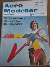 Aero Modeller AUG 1973 Vintage Hobby Magazine Model Aircraft BELL AIRACOBRA Plan