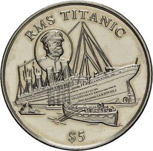 Savoca Coins Liberia 5 Dollars 1998 Titanic =BZB80547