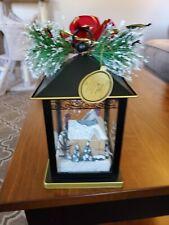 """Thomas Kinkade Sparkle of The Season """"Joy"""" Lantern Bradford Exchange"""