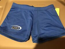 Motionwear Small Adult Spandex Gymnastic Dance Shorts Blue Mint