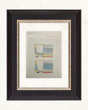 Roy Lichtenstein 1984 Original Print Hand Signed with Certificate, Resale $5,400