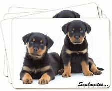 Rottweiler Puppy Dogs 'Soulmates' Picture Placemats in Gift Box, SOUL-47P