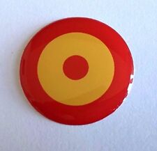 Español Bulls Eye roundal STICKER/DECAL 30mm de alto brillo acabado de gel de cúpula