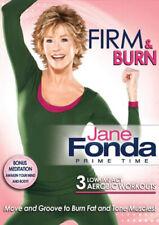 Jane Fonda Prime Time Firm & Burn Low Impact Aerobic Workouts Bonus Meditation