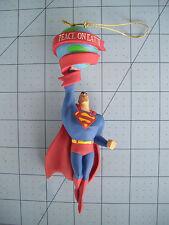 "Superman Ornament Solid Resin 6"" Tall MIB Warner Bros Peace On Earth Nice"
