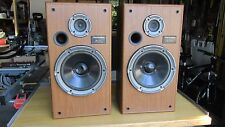 Pair of Vintage TECHNICS SB-CR33 2 Way Floor Speakers WORKS & SOUNDS GREAT