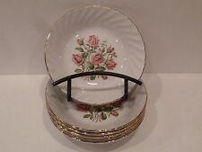Royal Wessex By Swinnertons Set of 00004000  6 Fruit~Sauce Bowls~Pink Roses~Swirl/Gold Rim