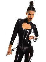 WETLOOK CATSUIT GANZANZUG OVERALL im Lack Leder Look Clubwear DOMINACATSUIT GOGO