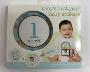 Baby's First Year Belly Stickers boy New Sealed