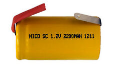 Sub C 2200 mAh NiCd Rechargeable Battery with Tabs