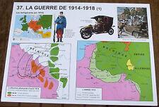 AFFICHE SCOLAIRE ROSSIGNOL ,La guerre DE 1914/1918  N°36/37