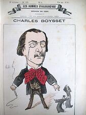 CHARLES BOYSSET JURISTE DéPUTé CARICATURE GILL LES HOMMES D'AUJOURD'HUI 1878