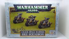 WARHAMMER 40K CHAOS SPACE MARINE BIKE SQUADRON METAL SEALED OLDHAMMER OOP MIB