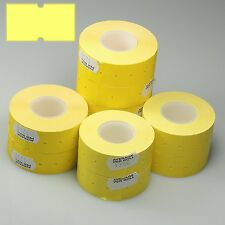 Motex MX-5500 - 50,000 Yellow Permanent Price Gun Pricing Labels - CT1 22 x 12mm