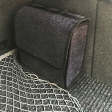 Car Trunk Organizer Foldable Storage Box Cargo Bag Portable Gray Woolen Felt CJK
