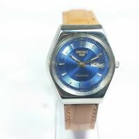 Vintage Seiko Mechanical Automatic Movement Day Date Dial Analog Watch C7