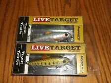 LIVE TARGET TROUT-LOT of 2 DIFFERENT COLORED FISHING LURES-2-3/4&5/16oz