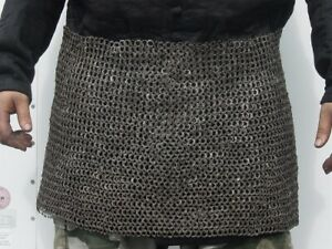 Medieval Knight Chain mail Skirt10 mm Flat Riveted With Warser