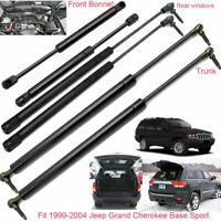 Vehicle Gas Struts Bonnet +Rear Windows+Tailgate For 99-2004 Jeep Grand Cherokee