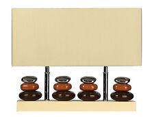 "Cortesi Home CH-TL303029 LumiRock Quadro Table Lamp Cream Shade, 22.5""x10.5""x15"""
