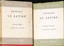 LE SATIRE - DECIMO GIUNIO GIOVENALE - ZANICHELLI, 1963 - 2 VOLL.