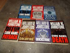 WILLIAM JOHNSTONE~COMPLETE~CODE NAME~SERIES~SEVEN PAPERBACK BOOK COLLECTION