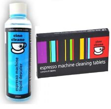 CLEANING TABLETS + LIQUID DESCALER Espresso Coffee Machine Cleaner CINO CLEANO