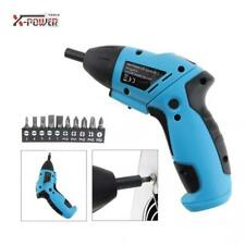 Hand Tools Battery Operated Cordless Electric Screwdriver Drill Kit with Led