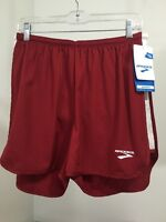 Women's Brooks Running Shorts Crimson/White Size Medium NWT
