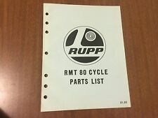 Vintage Rupp NOS Motorcycle RMT 80 Cycle Parts List 32659